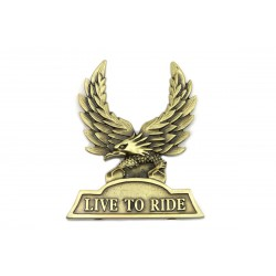 """Insertion de Sissy Bar """"Live To Ride"""""""