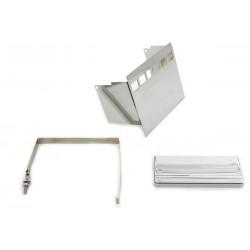 Kit de couvercle de batterie carré chromé