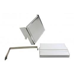 Kit de couvercle de batterie nervuré chromé