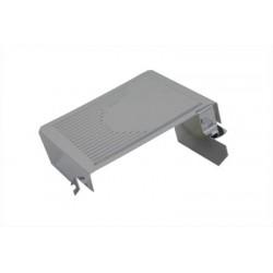 Couvercle latéral de batterie nervuré chroméCouvercle latéral de batterie nervuré chromé