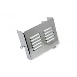 Couvercle latéral de batterie à persiennes chromé