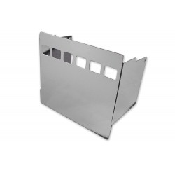 Couvercle latéral de batterie chromé avec trous de vue carrés