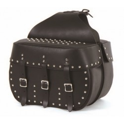 SACOCHE CAVALIERE CUIR - STYLE STOCK - 18 L - SPORTSTER -DYNA